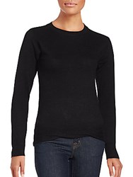 Saks Fifth Avenue Red Solid Wool Blend Sweater Light Blue