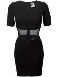 State Of Claude Montana Vintage Mesh Panel Dress Black