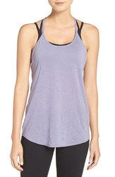 Zella Women's 'Elevate' Cross Back Tank Purple Rush