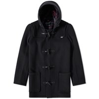 Gloverall Mid Length Duffle Coat Black