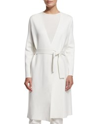 The Row Wrap Front Belted Coat Off White