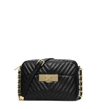Michael Kors Susannah Medium Quilted Leather Messenger Black