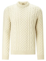 John Lewis And Co. Made In England Cable Knit Merino Jumper Off White