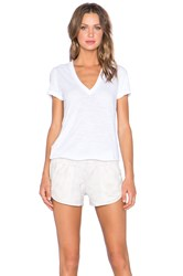 Monrow Perforated Leather Romper White