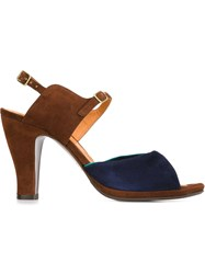 Chie Mihara Tricoloured Sandals Brown