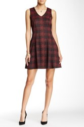 Romeo And Juliet Couture Plaid Fit And Flare Dress Black
