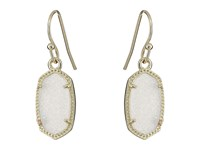 Kendra Scott Lee Earring Gold Iridescent Drusy Earring Silver