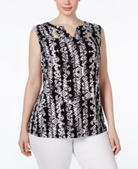 Inc International Concepts Plus Size Cutout Neck Snake Print Top Only At Macy's Charmed Snake