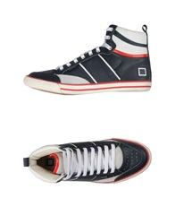D.A.T.E. Sneakers Dark Blue