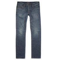 Tom Ford Slim Fit Washed Selvedge Denim Jeans Blue