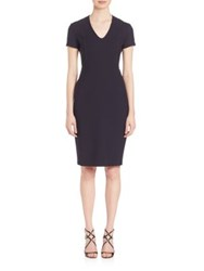 Piazza Sempione Double Stretch Wool Dress Dark Blue