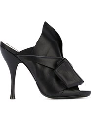 No21 Twist Front Stiletto Mules Black