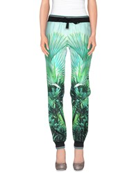Roberto Cavalli Gym Trousers Casual Trousers Women Light Green