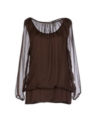 Giorgia And Johns Blouses Dark Brown