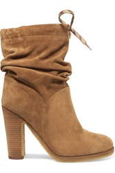 See By Chloe Suede Ankle Boots Beige