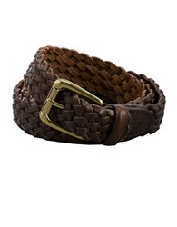 Lauren Ralph Lauren Braided Leather Belt Brown