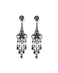 Rhodium Plated Deco Crystal Earrings Jose And Maria Barrera
