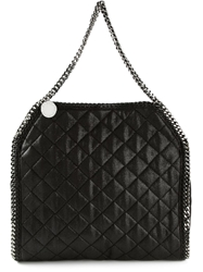 Stella Mccartney Quilted 'Falabella' Tote Black