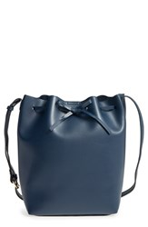 Sole Society 'Blackwood' Faux Leather Bucket Bag Blue Navy