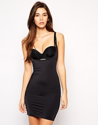 Magic Wear Your Own Bra Full Slip Dress Black