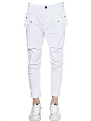 Dsquared2 Stretch Cotton Twill Cargo Chino Pants
