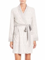 In Bloom Patterned Wrap Robe Ivory Grey