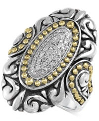 Effy Collection Balissima By Effy Diamond Vintage Look Ring 1 8 Ct. T.W. In Sterling Silver And 18K Gold Silver Gold
