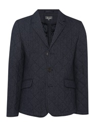 Linea Johnson Wool Quilted Blazer Grey