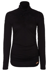 Khujo Fulda Long Sleeved Top Black Unwashed