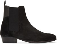 Hudson H By Black Suede Watts Chelsea Boots