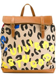 Vivienne Westwood Anglomania Logo Print Backpack Nude And Neutrals