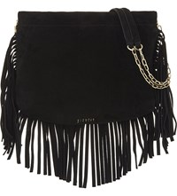 Claudie Pierlot Alima Suede Shoulder Bag Noir