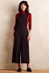 Cartonnier Talula Cropped Jumpsuit Black Motif