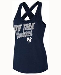 G3 Sports Women's New York Yankees On Base Tank Navy