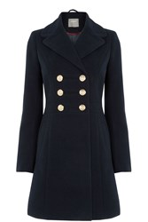 Oasis Marie Military Coat Navy