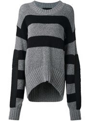 Haider Ackermann Striped Jumper Grey