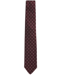 Hugo Boss Men's Patterned Italian Silk Tie Mediumred
