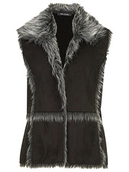 Betty Barclay Faux Shearling Gilet Black
