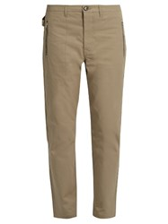 Golden Goose Cropped Cotton Chinos Beige