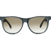Mosevic Solid Denim Unisex Sunglasses Cassini Stone Black