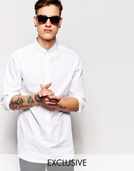 Standard Issue Exclusive Longline Button Down Shirt White