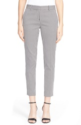 Theory 'Treeca Cl' Houndstooth Print Pants Black White