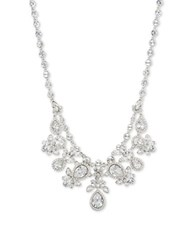 Givenchy Cubic Zirconia Double Layer Pendant Necklace Silver