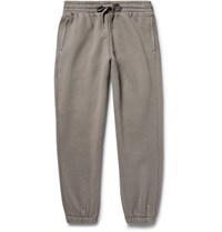 Alexander Wang T By Wide Leg Cotton Blend Jersey Sweatpants Gray