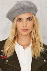 Bellisima Wool Beret Gray