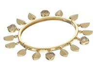Cole Haan Shaky Metal And Stone Bangle Gold Bracelet