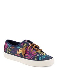 Sperry Seacoast Lace Up Sneakers Pink Multi