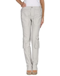 E Go' Sonia De Nisco Casual Pants Light Grey