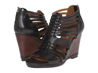 Trask Sammi Black Italian Veg Tanned Steer Women's Wedge Shoes