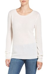 James Perse Women's Thermal Cashmere Tee White